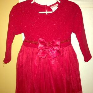 Other - Toddler red glittery dresses